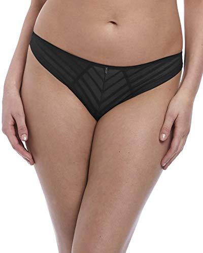 Freya Women's Cameo VPL-Free Ultra Cheeky Brazilian Briefs, Black, X-Large