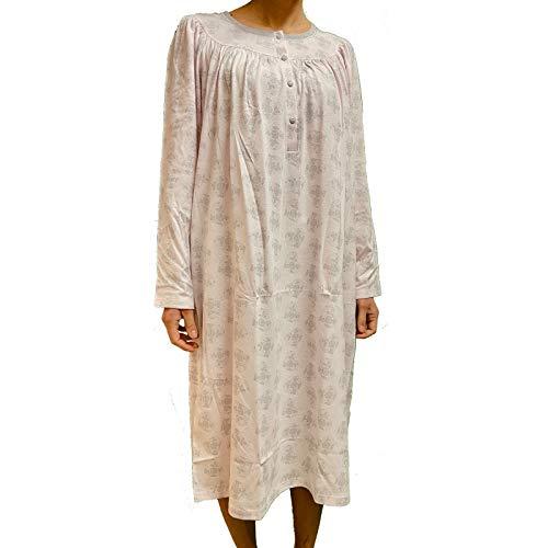 camicia donna 56 LINCLALOR Camicia da notte puro cotone manica lunga art. 74037-56