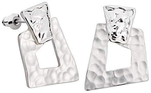Perlkönig | Damen Frauen | Ohrringe Set | Ear Cuffs | Silber Farben | Eckig | Stecker | Nickelabgabefrei