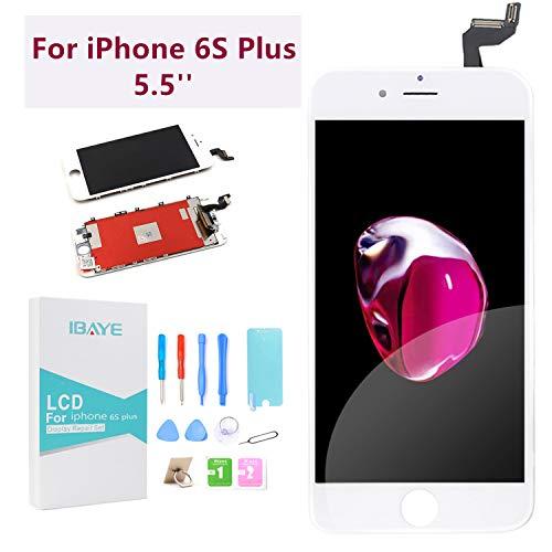 Ibaye - Reemplazo de Pantalla iPhone 6s Plus 5.5'' Táctil LCD con Herramientas de Reparación y Protector de Pantalla (Blanco)