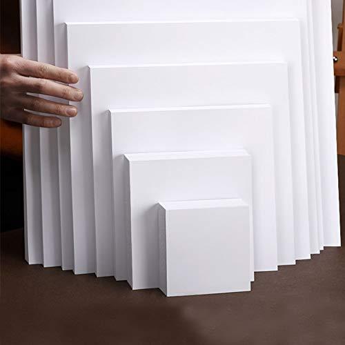Cuadrado Papel blanco/negro Cuaderno de bocetos Papel de acuarela Diy Cartón hecho a mano Fabricación de 250g Aquarelle Art Supplies 50 hojas 20x20cm Blanco