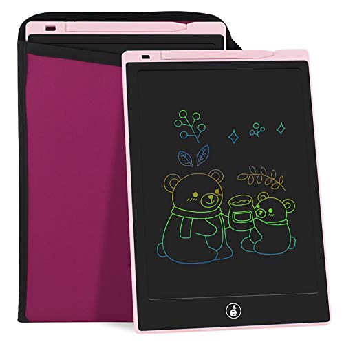 11-Inch LCD Writing Tablet, Electronic Colorful Screen Drawing Erase Board Doodle Board Writing Pad Gifts for Toddlers, Kids and Adults with Protective Sleeve (Pink)