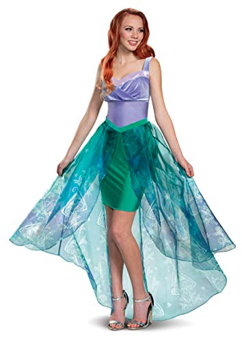 Disguise Women's Ariel Deluxe Adult Costume, Purple, M (8-10)