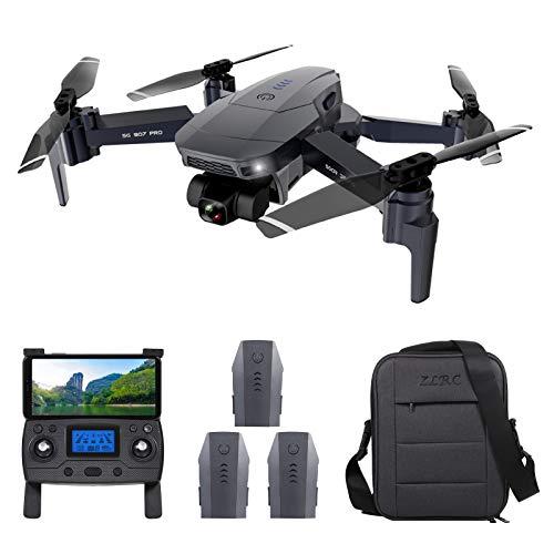 Festnight ZLL SG907 Pro GPS RC Drohne mit Kamera 4K 2-Achsen Gimbal 5G WiFi FPV Optische Durchflusspositionierung Quadcopter Point of Interest Wegpunkt Flug 800 m Kontrollentfernung mit 3