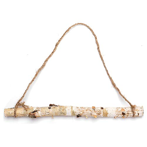 Byher 15-Inch White Birch Logs for Decoration - Decorative Farmhouse Home Wall Hanging Decor (15 Inch)