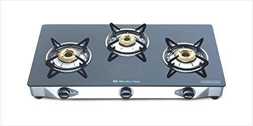 Bajaj CGX 3 SS Eco Stainless Steel 3 Burner Gas Stove, Black/Silver