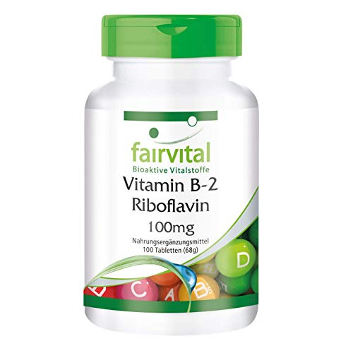 Vitamine B2 riboflavine 100 mg tabletten - HOOG GEDOSEERD - VEGAN - 100 tabletten