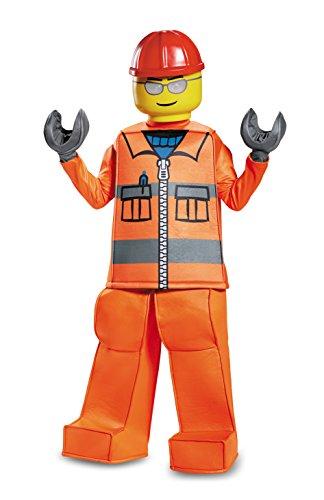 Disguise Lego Construction Worker - Disfraz de prestigio, color naranja, pequeño (4-6)