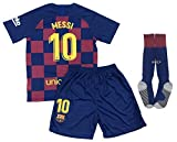 New 2020 Messi Home Jersey Shorts & Socks for Kids/Youths (Medium 7-8 Years Old) White