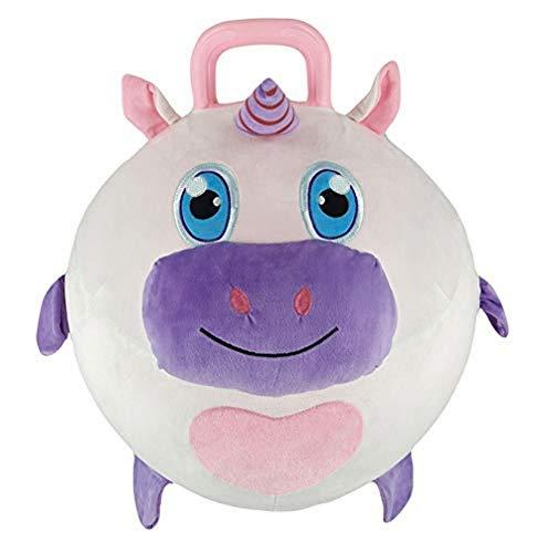 Splash Toys- Boing Balls-Licorne-Ballon de baudruche Animaux en Peluche diam 45CM, 31082U, Rose