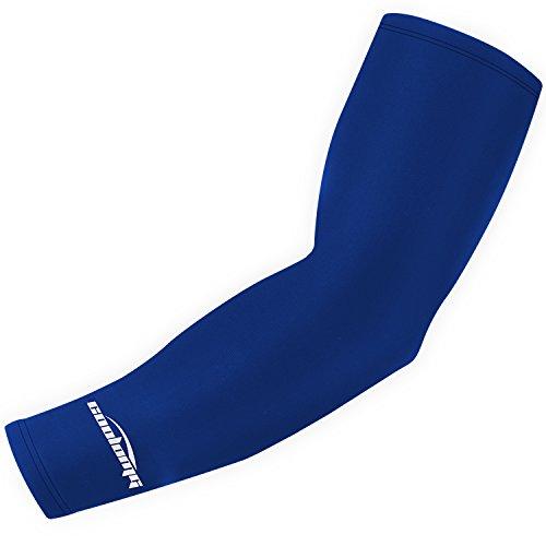 (クールオーエムジー)COOLOMG 一本入り 片腕 アームカバー 保温 速乾生地 UV 日焼け防止 ネイビーブルー M