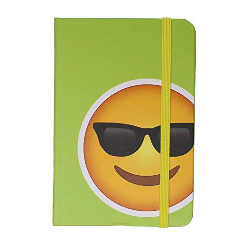 Notizbuch mit Sonnenbrille, Emoji, A6, liniert