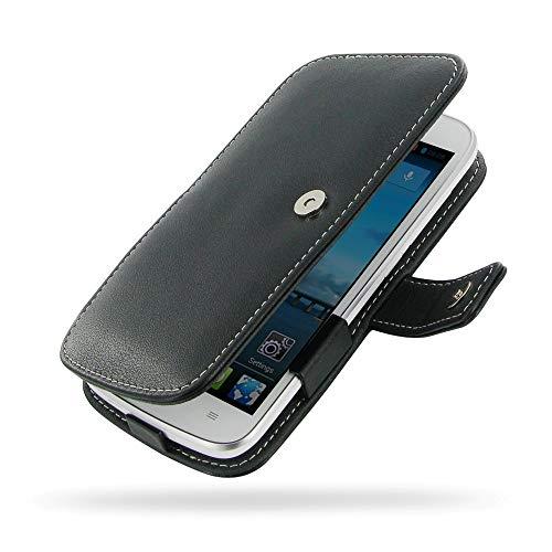 PDair Handarbeit Leder Hülle - Leather Book Case for Huawei Ascend Y600