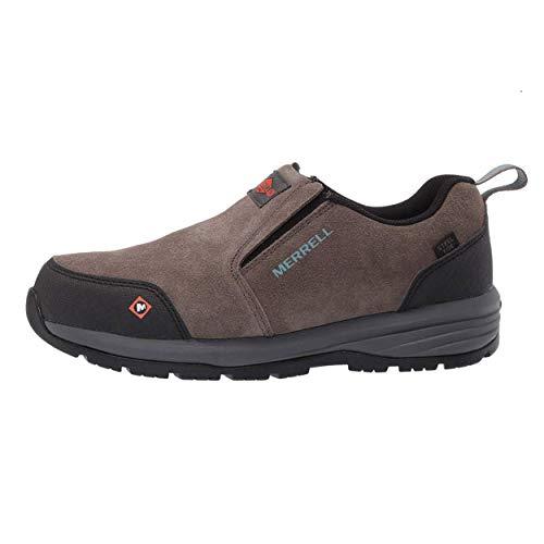 Merrell Women's Windoc Moc Waterproof Steel Toe Work Shoes Construction, Boulder, 10