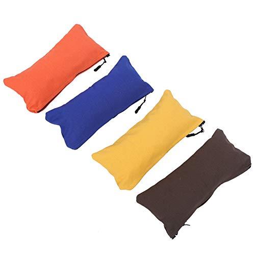 CHENQIAN 4 unids/set multifuncional lonas herramienta bolsa oficina 197g materiales Sundries bolsa estudiante lápiz caso amarillo naranja azul café
