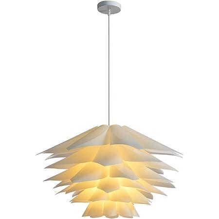 Goeco DIY Abat-jour Lampe suspension Lustre de fleur Lotus Kit avec montage Diamètre 45cm avec 48pcs feuilles