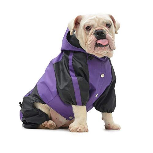 Bully Pitbull Dog Raincoat, Bulldog Rain Jacket Waterproof,Dog Jackets For Large Dogs,Four Legs Rain Coats For Pugs English French Bulldog