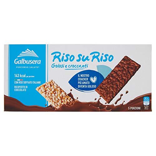 Galbusera Riso su Riso Snack con Riso Soffiato Ricoperto di Cioccolato, 150 g