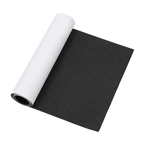 GARNECK Cinta adhesiva para monopatín, 80 x 20 cm, adhesivo para pedales, antideslizante, papel de vidrio abrasivo, para monopatín, placa deslizante para scooter
