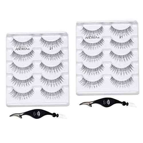 Andrea False Individual Eye Lash Set, Multi pack #21 with Eyelash Applicator, 2 Pack