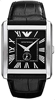 Emporio Armani Mens Quartz Watch, Analog Display and Leather Strap AR1640