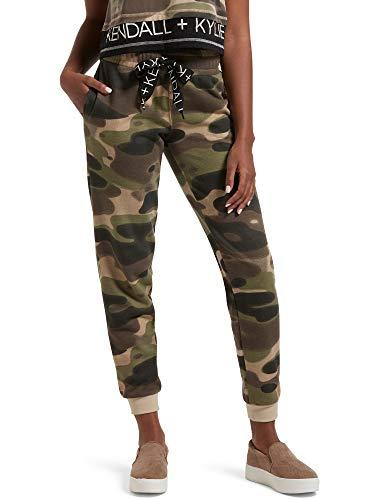 KENDALL + KYLIE Women's Oversized Drawstring Lounge Pant, Green, Medium