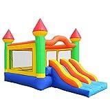 Cloud 9 Commercial Grade Mega Double Slide Castle Bounce House 100% PVC and Blower