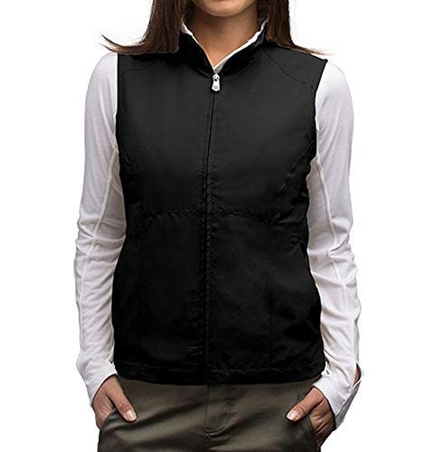 SCOTTeVEST RFID Travel Vests for Women 18 Pockets - Black Utility Vest for Women (BLK M)