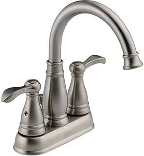 Delta 25984LF-BN Porter Two Handle Centerset Bathroom, Brushed Nickel