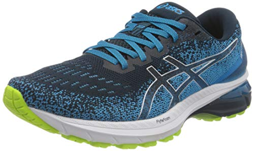 Asics GT-2000 9 Knit, Road Running Shoe Hombre, French Blue/White, 41.5 EU