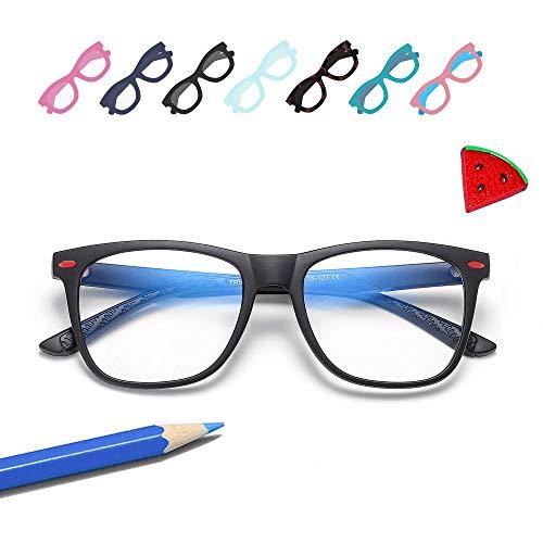 Penbea Kids Blue Light Blocking Glasses - Blue Light Glasses for Kids Girls Boys Age 7-12, Fake Glasses Anti Bluelight Glasses for Kids - Black