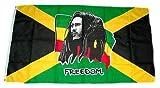 Flaggenking Bob Marley Fahne, Mehrfarbig, 150 x 90 cm