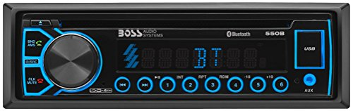 BOSS Elite 550B Car Receiver - Single Din, Blueooth, CD   MP3   USB AM FM Radio