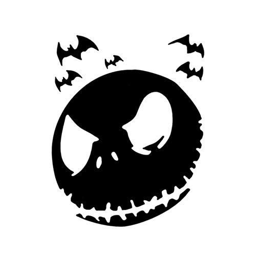 Empty 3 Stück Auto Aufkleber und Abziehbilder 10.1 * 12.8 Halloween Scary Face Wasserdichtes, reflektierendes Abziehbild für Stoßstangenfenster Laptop Motorrad Fahrradgepäck Graffiti Patches