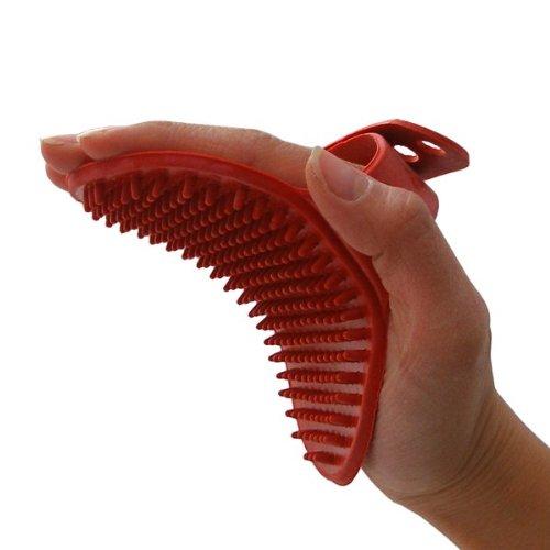 2-TECH Striegel Massage Enthaar Handschuh
