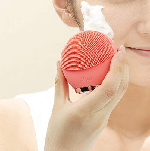 マクロスuful防水電動洗顔ブラシシリコンスキンピュアクリーナーコーラルピンクMEBL-97CR