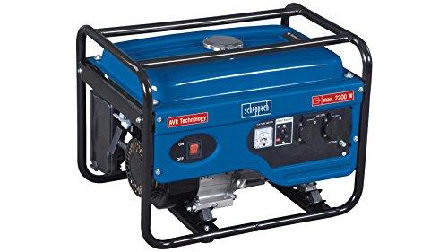 Scheppach 5906212901 Generator / Stromerzeuger SG2600, zuverlässige Stromversorgung egal ob Baustelle oder privates Umfeld, robuster Stahlrahmen schützt und dient dem Transport, 6,5 PS, 2200 W, 230 V
