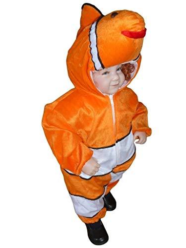 Seruna Fisch Kostüm, J22 Gr. 80, für Babies und Klein-Kinder, Fisch-Kostüme Fische Kinder-Kostüme Fasching Karneval, Kinder-Karnevalskostüme, Kinder-Faschingskostüme, Geburtstags-Geschenk