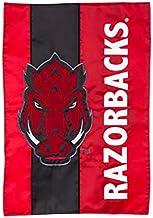 Team Sports America Collegiate University of Arkansas Embroidered Logo Applique Garden Flag, 12.5 x 18 inches Indoor Outdo...