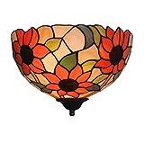 Odziezet Lampada a Muro Girasole Lampade da Parete Stile Tiffany Retro Applique da Parete in Vetro
