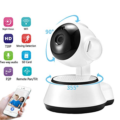 Draadloze bewakingscamera Home Security Camera Draadloze Smart WiFi-camera Indoor 1080P, voor Pet Nanny Babyfoon met Pan/Tilt/Zoom Nachtzicht Bewegingsdetectie 2-weg audio
