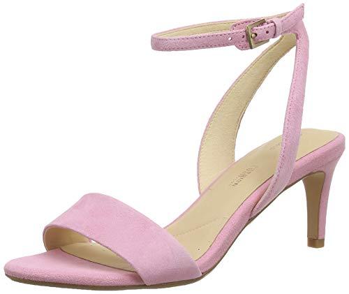 Clarks Amali Jewel, Zapatos con Tacon y Correa de Tobillo para Mujer, Rosa (Pink Suede Pink Suede), 39.5 EU