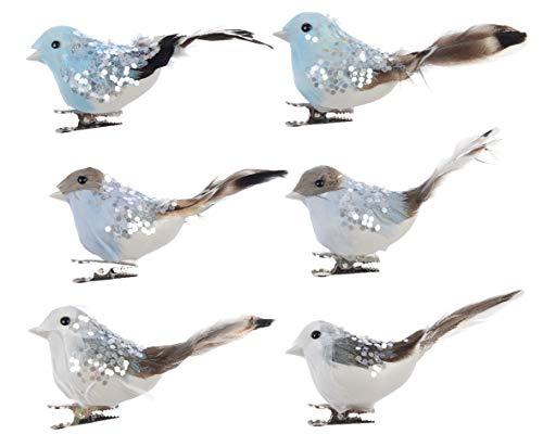 Kaemingk - Uccellino con Coda Piumata 10 cm. Pezzo Singolo - Kaemingk-727410