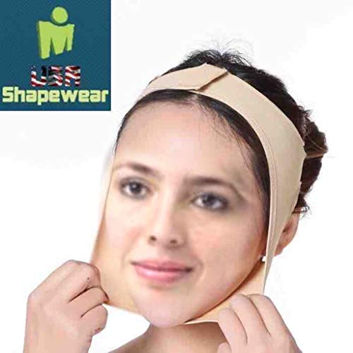 Facial Compression and Chin Support Continual Chin Support and Pressure Medium Beige Lipo Foam Strips and Wipes Included by LipoHealing, Corporation Unisex Assembled in The USA TOP Quality Guaranteed