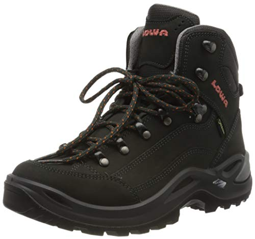 Lowa Women's Renegade Gtx Mid Ws Low Rise Hiking Boots, Grey (Anthracite/mandarin), 4.5 UK