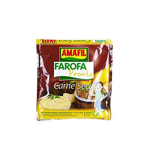 Harina de Yuca tostada y especiada, 250g - Farofa Pronta Carne-Seca AMAFIL 250g