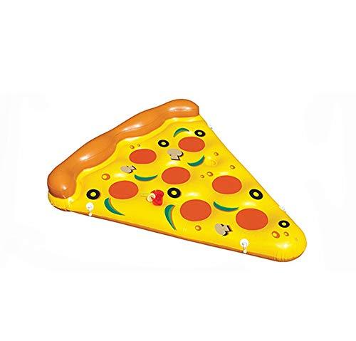 YUHUANG Pizza Flottant Ligne Monter Adulte Anneau de Natation lit Flottant inclinable Eau Gonflable Fournitures bouée de Sauvetage