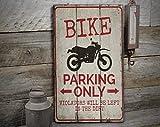 by Unbranded Señal de aparcamiento de bicicleta, señal de madera para bici, letrero de bici de...