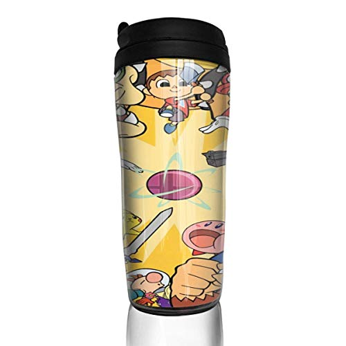 Super Smash Bros Mario und Luigis Paper Jam Kaffeetassen Travel Mug Warmer Tumbler Cup, Kunst Kunstflasche Thermoskaffeetassen mit Deckel 12 Unzen anpassen
