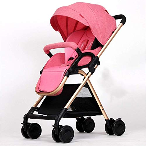 Find Discount ETERLY Baby Four Wheels Trolley Awning Bike Baby Trolley Newborn Baby Carriage Foldabl...